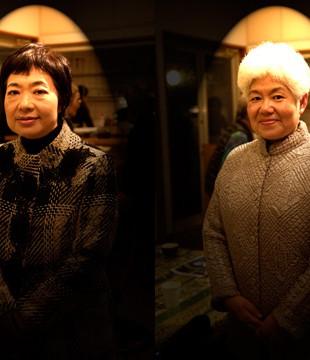 斉藤憲子さん(右)・富美子さん姉妹 千葉市川