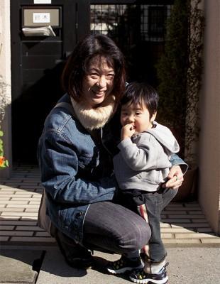 鈴木美和子さん・希海くん母子 千葉県市川 Japan