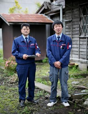 ベニーガスのサービスマン 岩手県野田村 Japan